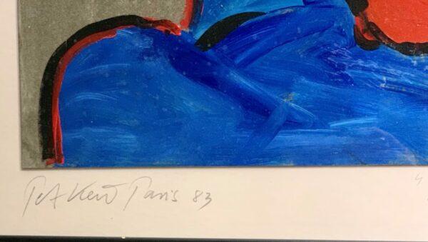 """Peter Keil """"Smoker"""" Oil Painting Paris"""