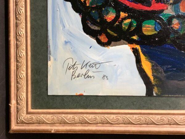 """Peter Keil """"Van Gogh"""" Oil Painting 1983"""