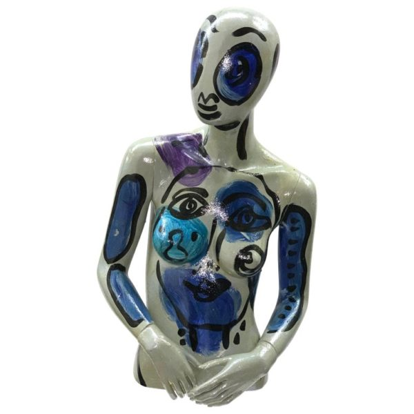 Peter Keil Abstract Expressionist Painted Mannequin