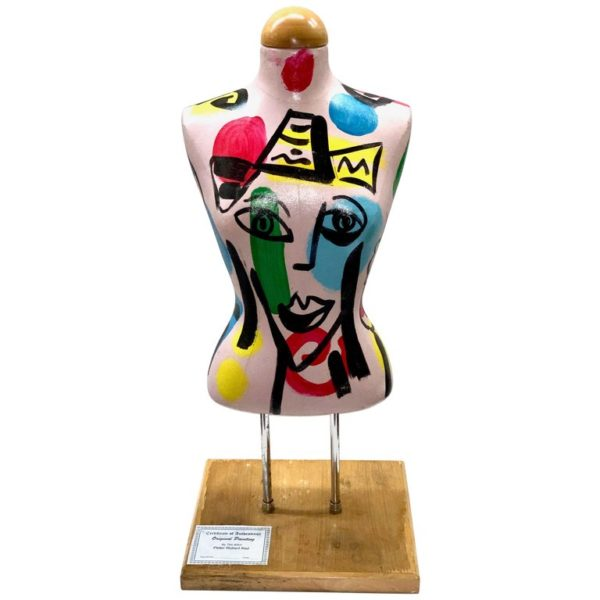 Peter Keil Abstract Expressionist Painted Mannequin Torso in Canvas