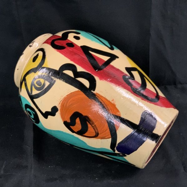 Peter Keil Abstract Painted Vase 1985