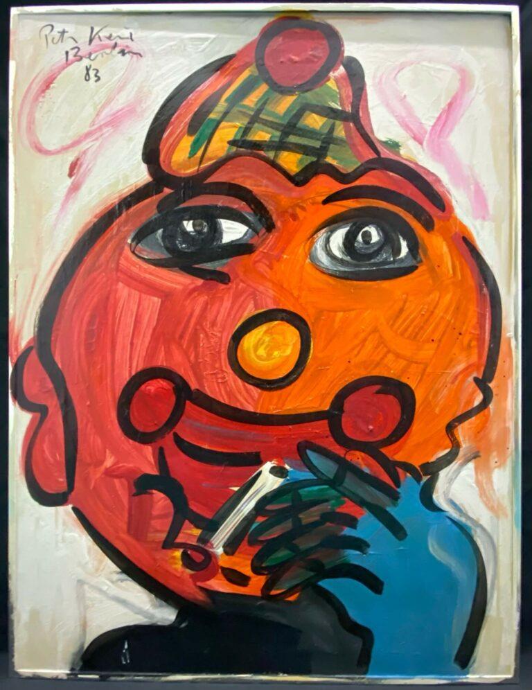 Peter Keil Painting American Clown 1983