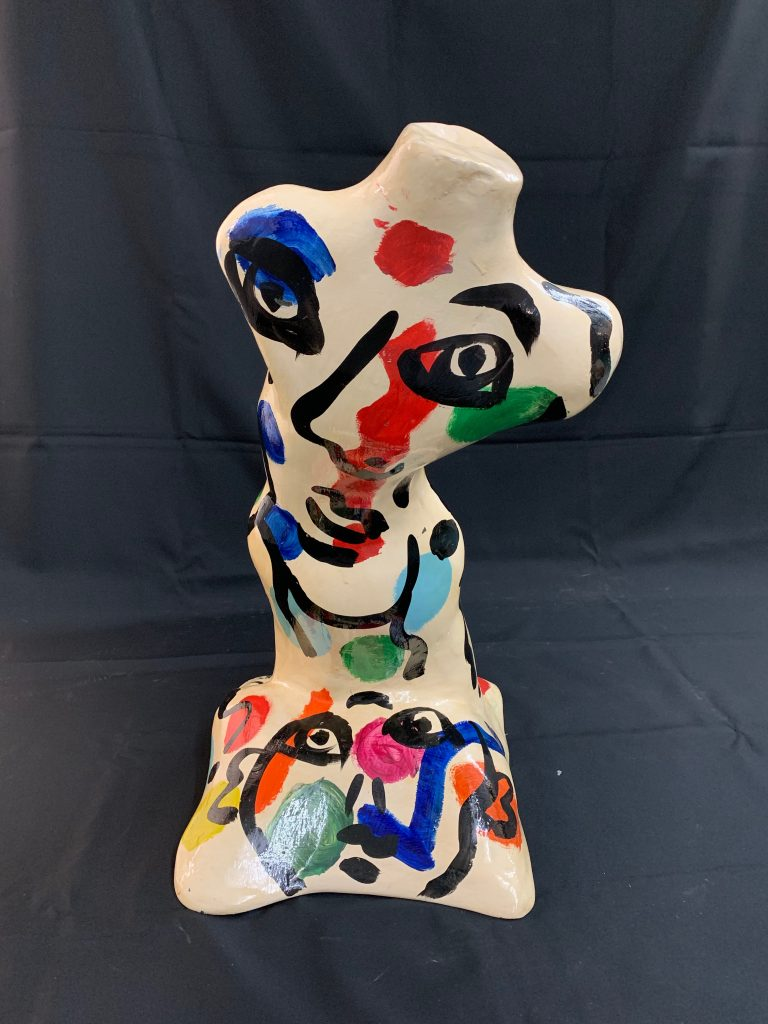 Peter Keil Expressionist Painted Fiberglass Sculpture