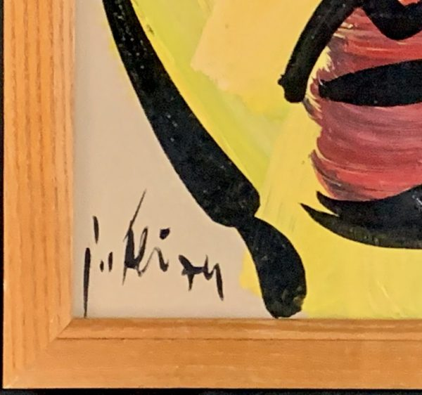 Peter Keil Expressionist Portrait 1970s