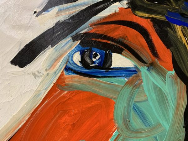 Peter Keil Expressionist Portrait Painting of Mick Jagger