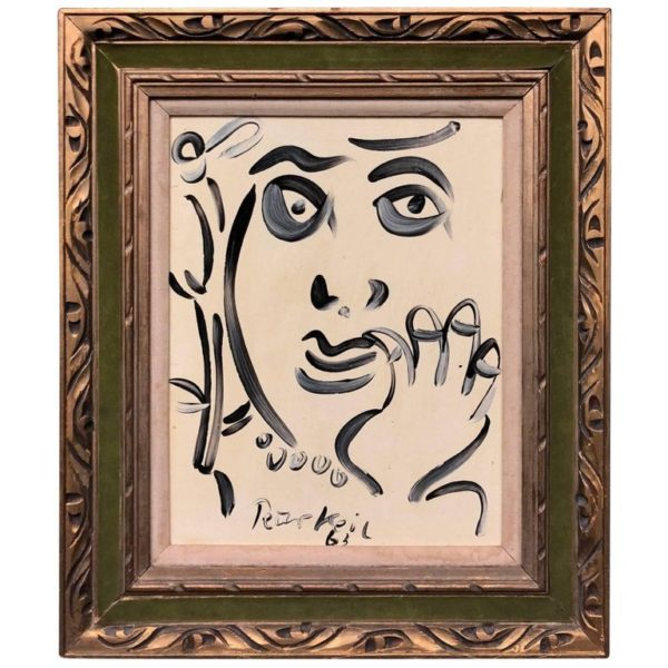 Peter Keil Modern Expressionist Oil Painting Portrait