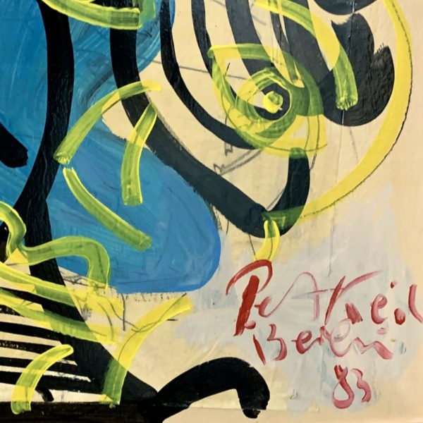 Peter Keil Newsprint Oil Painting Berlin 1983