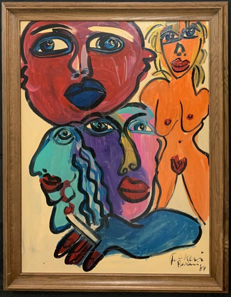 Peter Keil Nude Clowns Berlin 1984