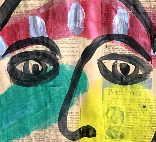 Peter Keil Paris Newsprint Oil Painting 1972