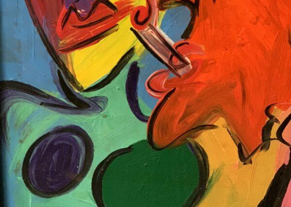 Peter Keil Smoking Oil Painting Palma