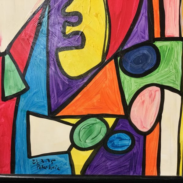 Peter Keil Stained Glass Oil Painting 1975