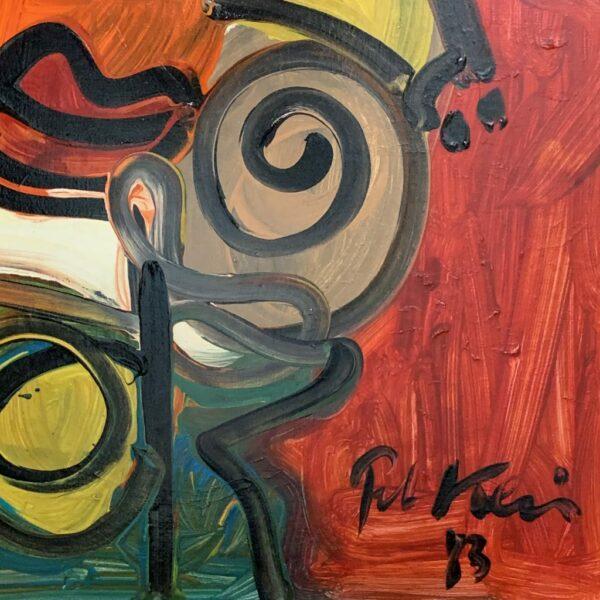 Peter Keil Woman Oil Painting Berlin 1983