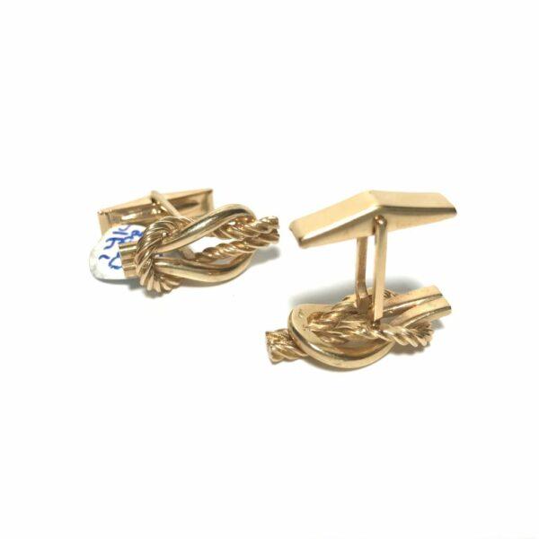 14K Gold Rope Cufflinks