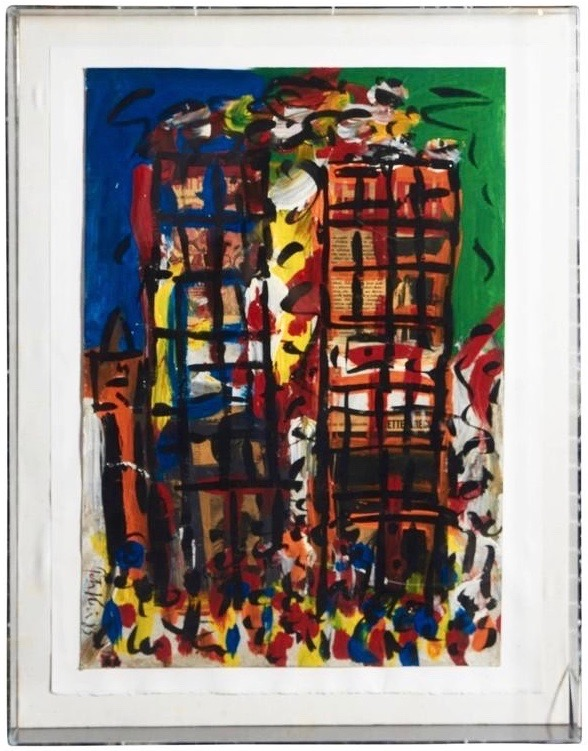 Peter Keil NYC The Twin Towers Painting